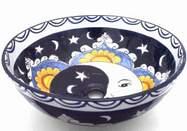 Umywalka nablatowa malowana - księżyc