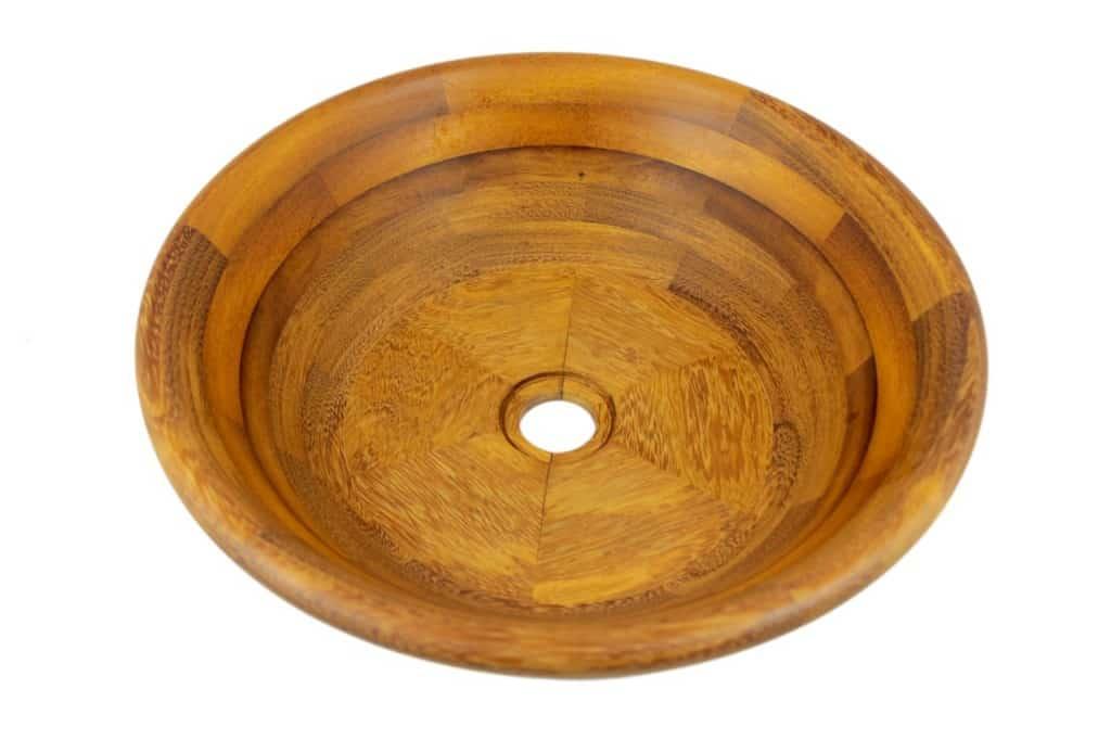 Stylowa Umywalka nablatowa z drewna