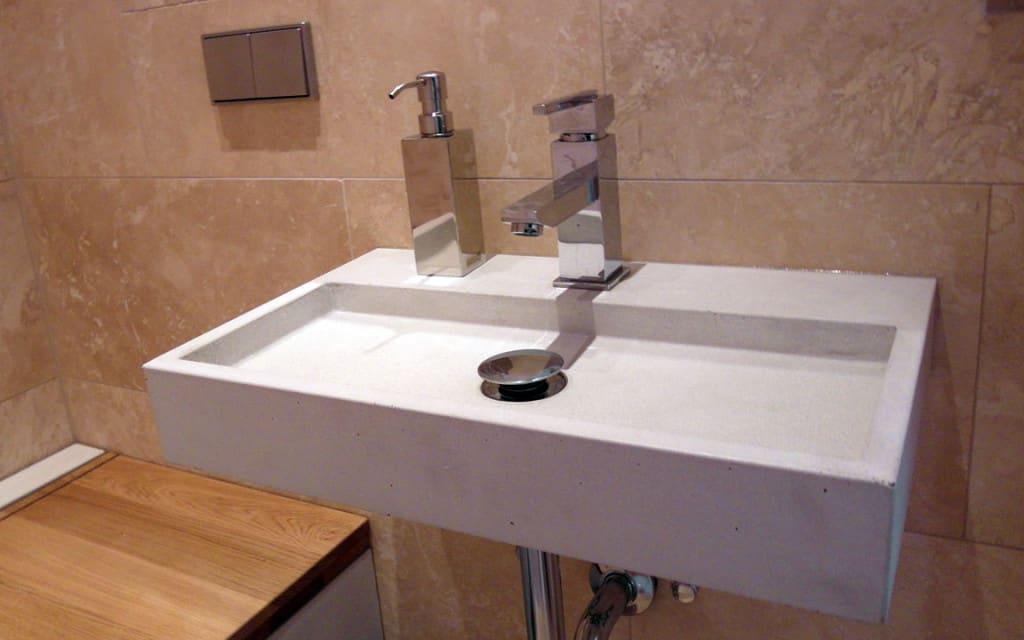 Umywalka betonowa łazienkowa