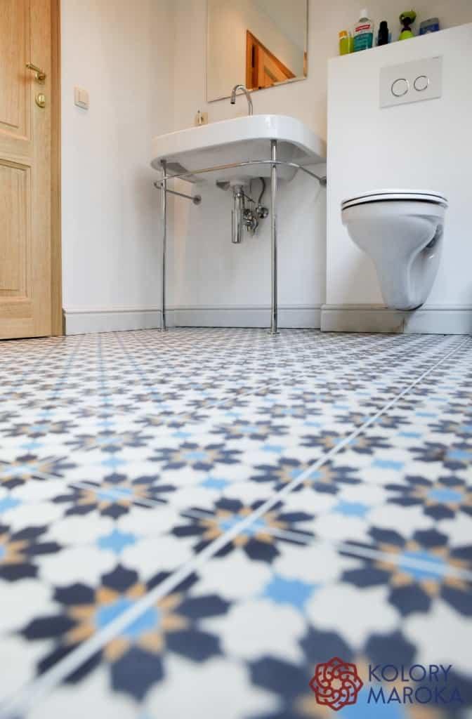 Płytki cementowe - wzory marokańskie
