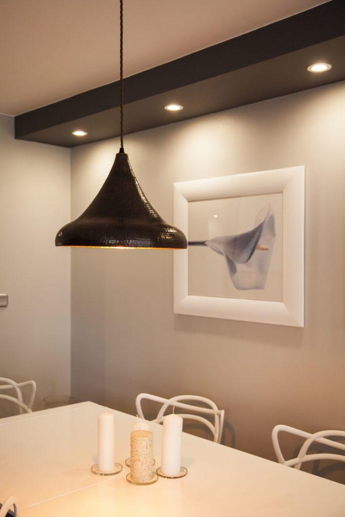 Lampa miedziana wiszaca - sufitowa lampa z ręcznie kutej miedzi 02