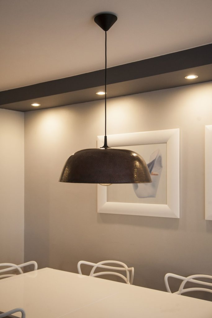 Miedziana Lampa - sufitowa lampa wisząca z ręcznie kutej miedzi 04