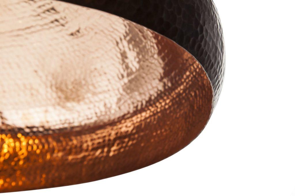 Miedziana Lampa wiszaca - sufitowa lampa z ręcznie kutej miedzi 07