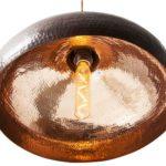 Miedziana Lampa wiszaca - sufitowa lampa z ręcznie kutej miedzi 08