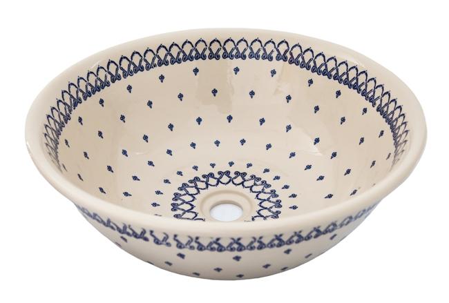 Ceramiczna umywalka malowana