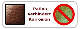 Kupfer Patina korrosion