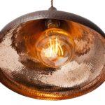 Lampa miedziana wiszaca - sufitowa lampa z ręcznie kutej miedzi 07