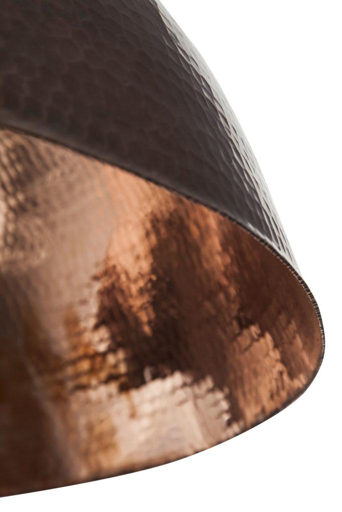 Miedziana Lampa - sufitowa lampa wisząca z ręcznie kutej miedzi 10
